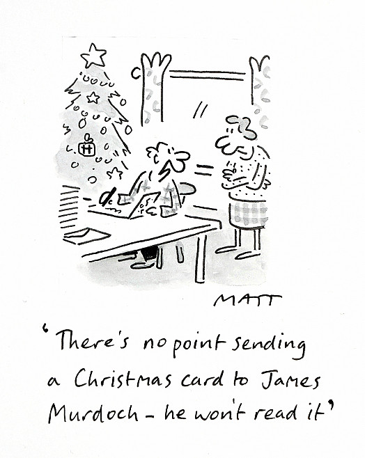 There's No Point Sending a Christmas Card to James Murdoch- He Won't Read It