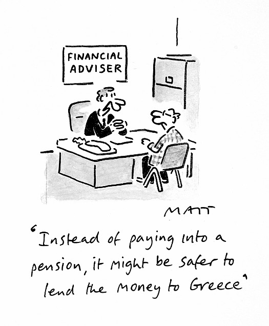 Instead of Paying Into a Pension, It Might Be Safer to Lend the Money to Greece