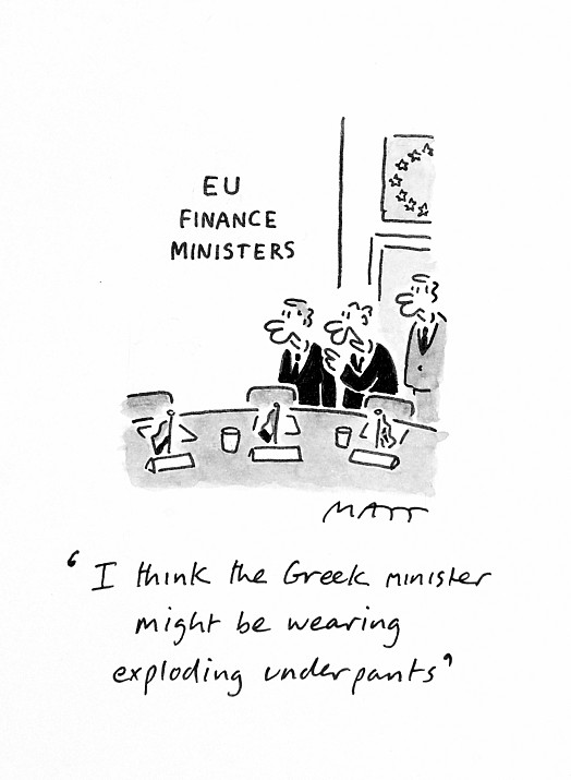 I Think the Greek Minister Might Be Wearing Exploding Underpants