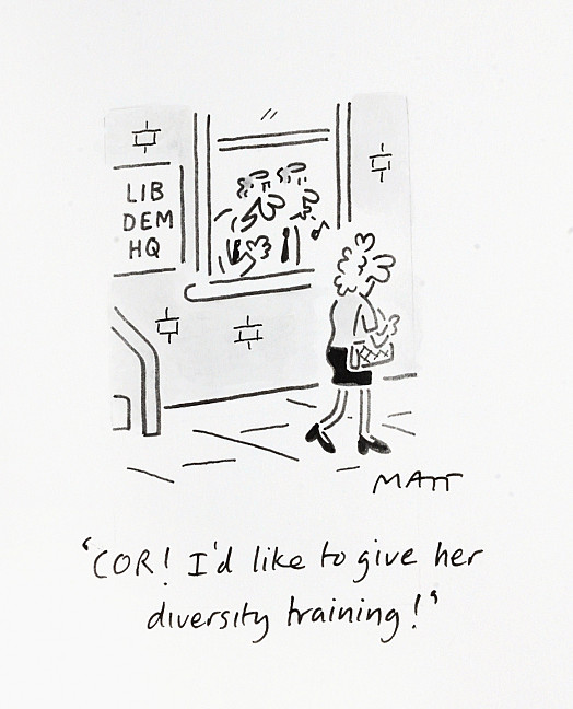 Cor! I'd Like to Give Her Diversity Training!