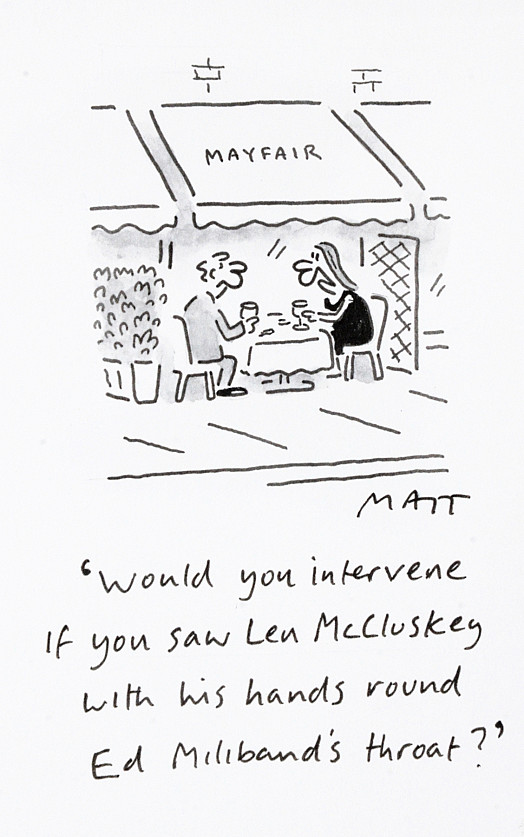 Would You Intervene if You Saw Len Mccluskey with His Hands Round Ed Miliband's Throat?