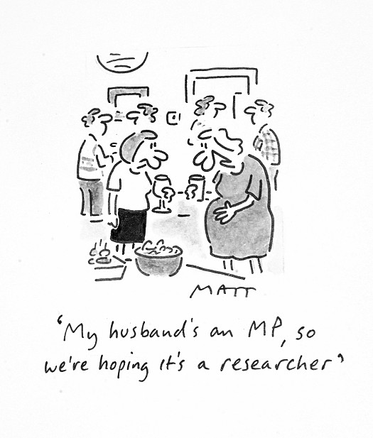 My Husband's an Mp, so We're Hoping It's a Researcher