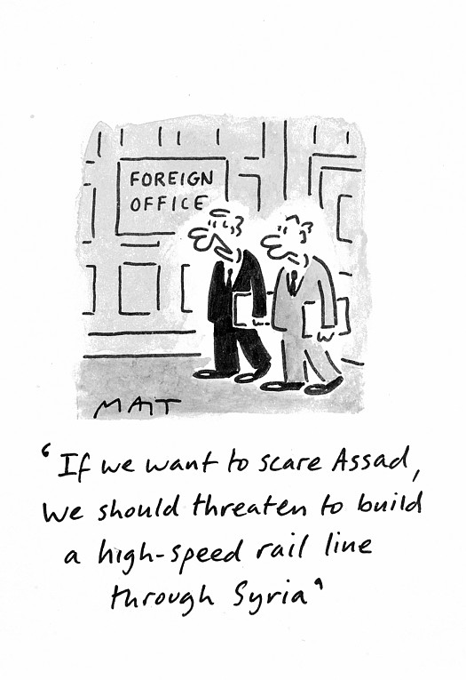 If We Want to Scare Assad, We Should Threaten to Build a High-Speed Rail Line Through Syria