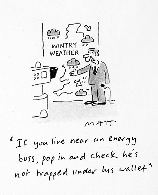 If You Live Near an Energy Boss, Pop In and Check He's Not Trapped under His Wallet