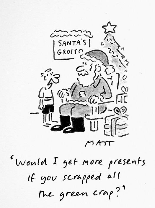 Would I Get More Presents if You Scrapped All the Green Crap?