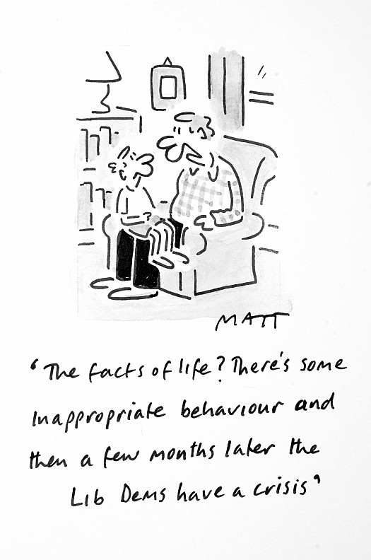 The Facts of Life? There's Some Inappropriate Behaviour and then a Few Months Later the Lib Dems Have a Crisis