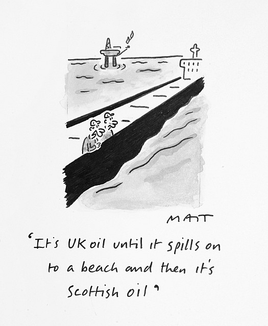 It's Uk Oil Until It Spills On to a Beach and then It's Scottish Oil