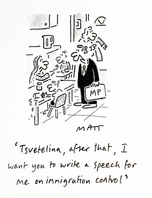 Tsvetelina, After That, I Want You to Write a Speech For Me On Immigration Control