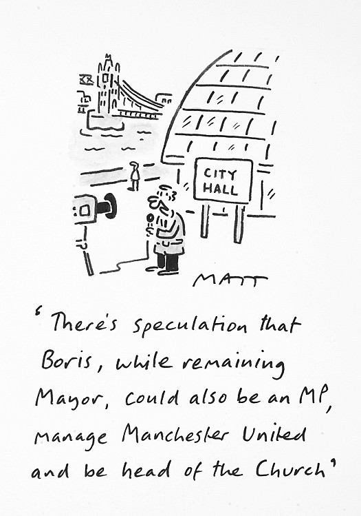 There's Speculation That Boris, While Remaining Mayor, Could also Be an Mp, Manage Manchester Untied and Be Head of the Church