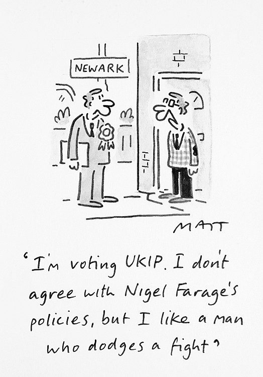 I'm Voting Ukip. I Don't Agree with Nigel Farage's Policies, but I Like a Man Who Dodges a Fight