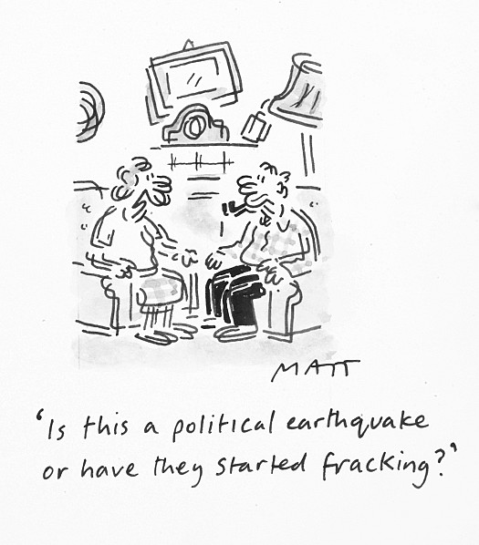 Is this a Political Earthquake of Have They Started Fracking?