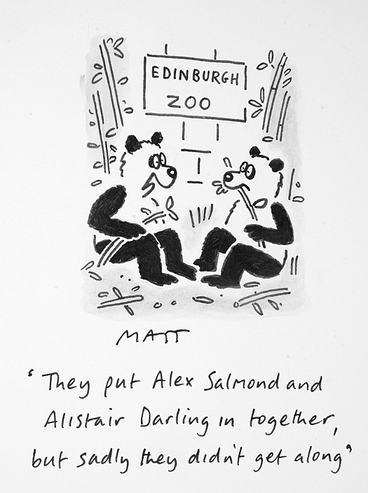 They Put Alex Salmond and Alistair Darling In Together, but Sadly They Didn't Get Along