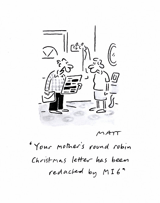 Your Mother's Round Robin Christmas Letter Has Been Redacted by Mi6