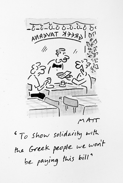 To Show Solidarity with the Greek People We Won't Be Paying this Bill
