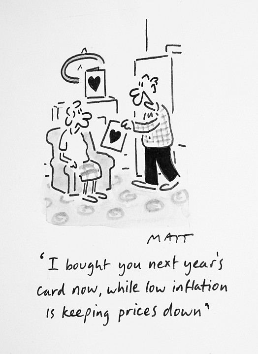 I Bought You Next Year's Card Now, While Low Inflation Is Keeping Prices Down