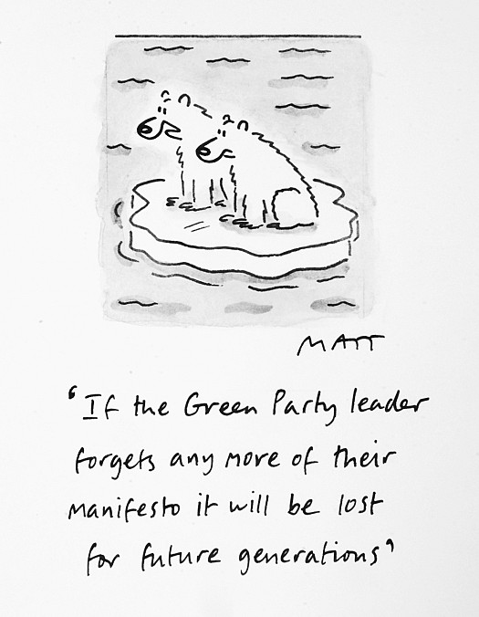 If the Green Party Leader Forgets Any More of Their Manifesto It Will Be Lost For Future Generations