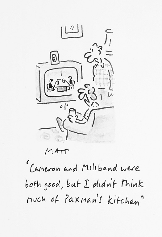 Cameron and Miliband Were both Good, but I Didn't Think Much of Paxman's Kitchen