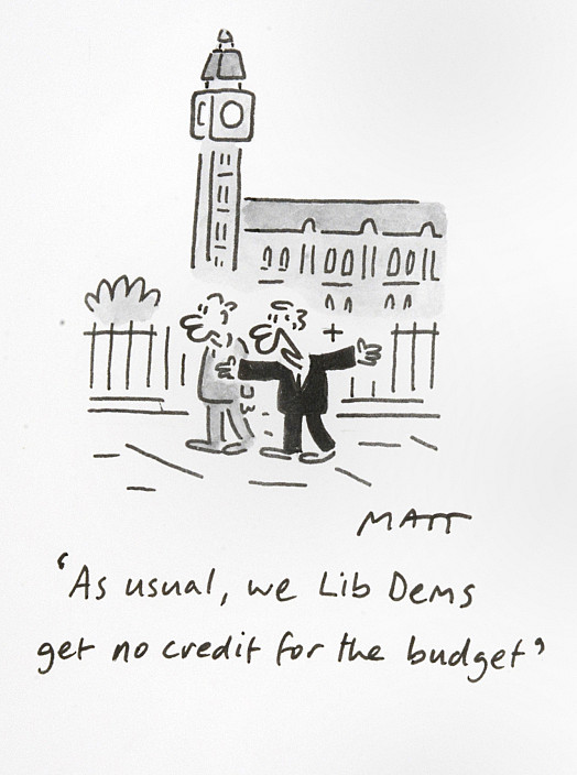 As Usual, We Lib Dems Get No Credit For the Budget