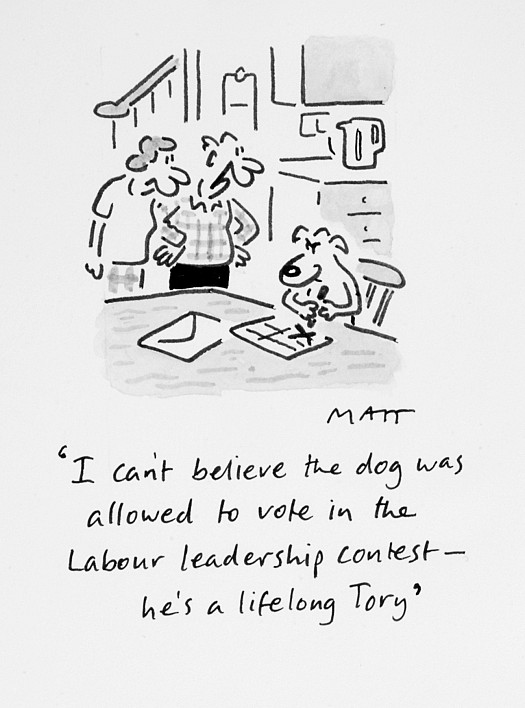 I Can't Believe the Dog Was Allowed to Vote In the Labour Leadership Contest - He's a Lifelong Tory