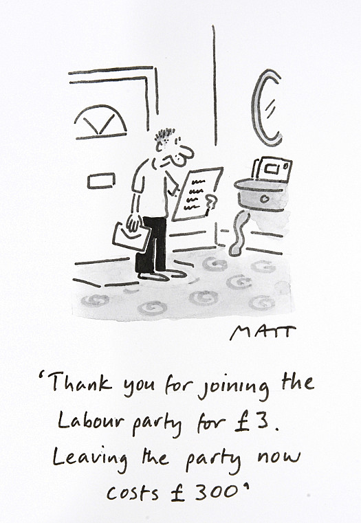 Thank You For Joining the Labour Party For £3Leaving the Party Now Costs £300