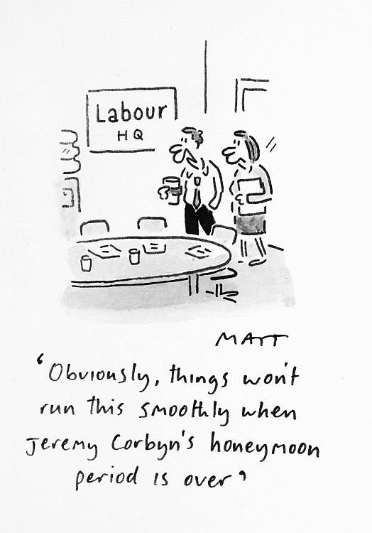 Obviously, Things Won't Run this Smoothly When Jeremy Corbyn's Honeymoon Period Is Over