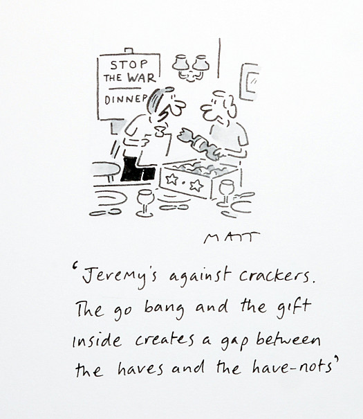 Jeremy's Against Crackers. They Go Bang and the Gift Inside Creates a Gap Between the Haves and the Have-Nots
