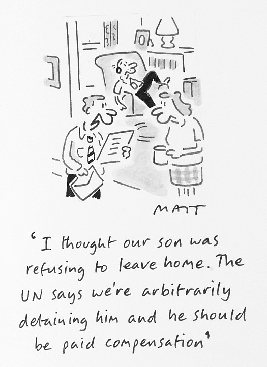I Thought Our Son Was Refusing to Leave Home. the Un Says We're Arbitrarily Detaining Him and He Should Be Paid Compensation