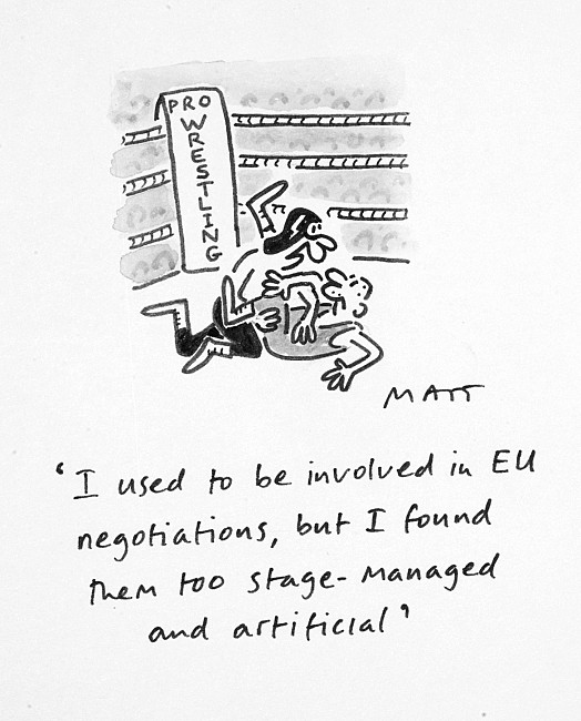 I Used to Be Involved In Eu Negotiations, but I Found Them Too Stage-Managed and Artificial