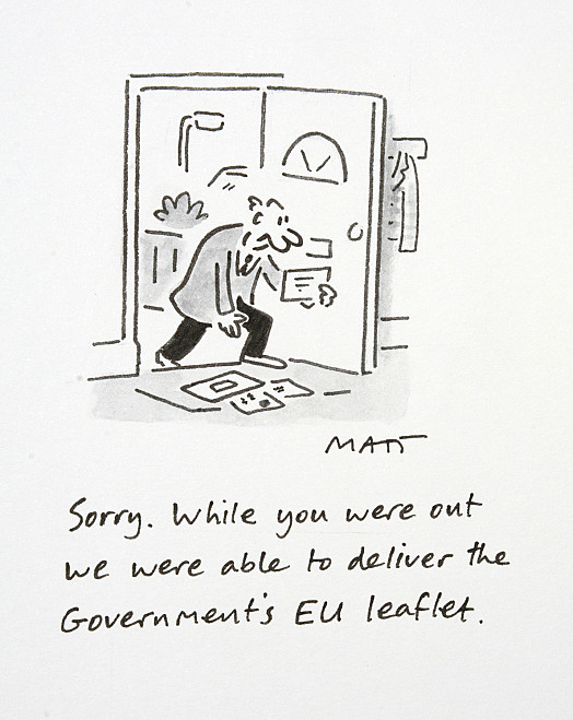 Sorry. While You Were Out We Were Able to Deliver the Government's Eu Leaflet