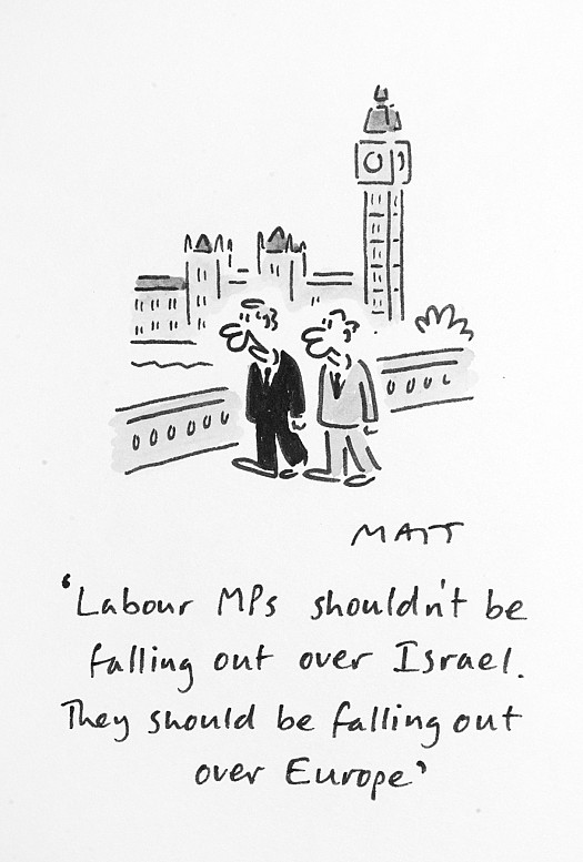 Labour Mps Shouldn't Be Falling Out over Isreal. They Should Be Falling Out over Europe