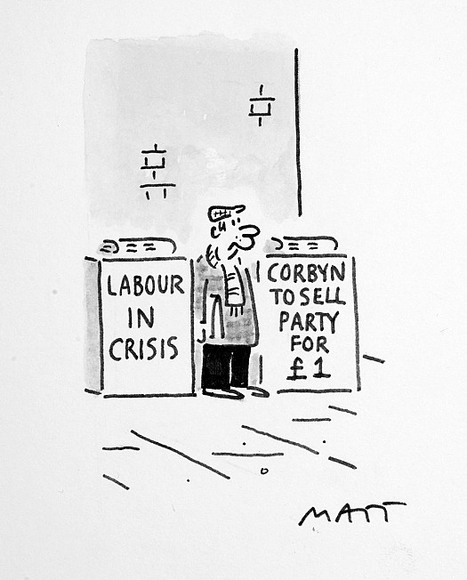 Labour In Crisis. Corbyn to Sell Party For £1