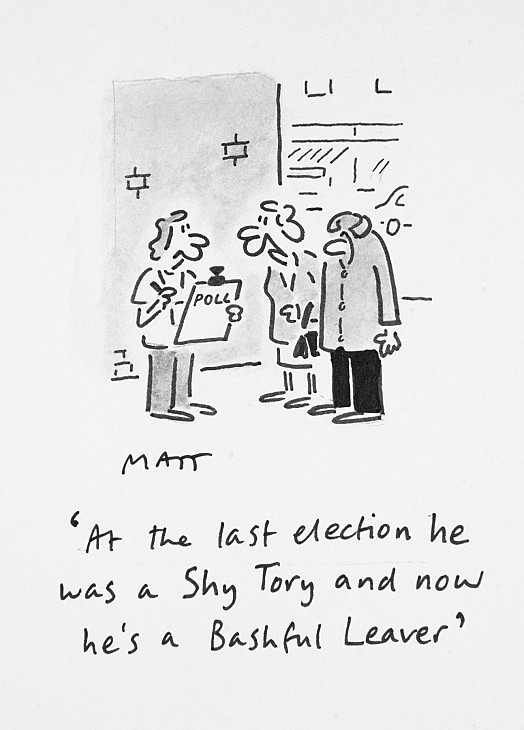 At the Last Election He Was a Shy Tory and Now He's a Bashful Leaver
