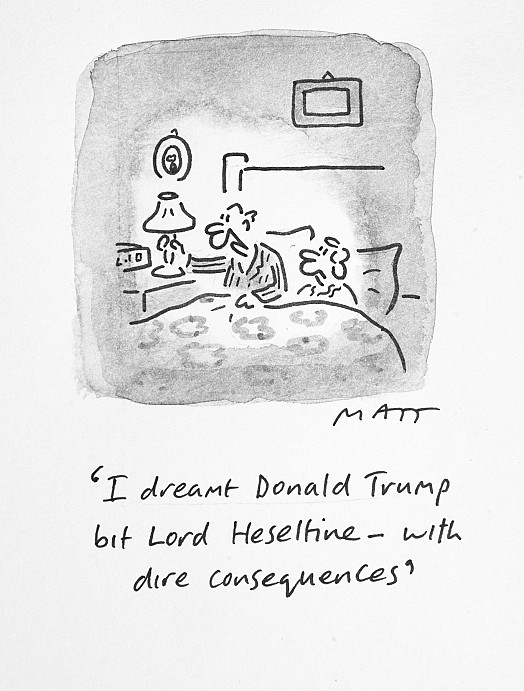 I Dreamt Donald Trump Bit Lord Heseltine - with Dire Consequences