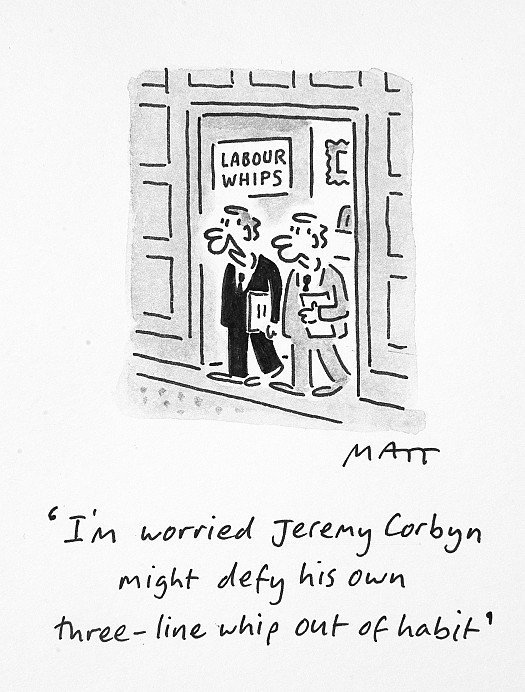 I'm Worried Jeremy Corbyn Might Defy His Own Three-Line Whip Out of Habit