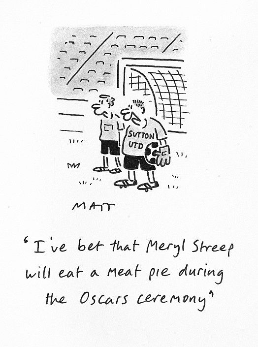 I've Bet That Meryl Streep Will Eat a Meat Pie During the Oscars Ceremony