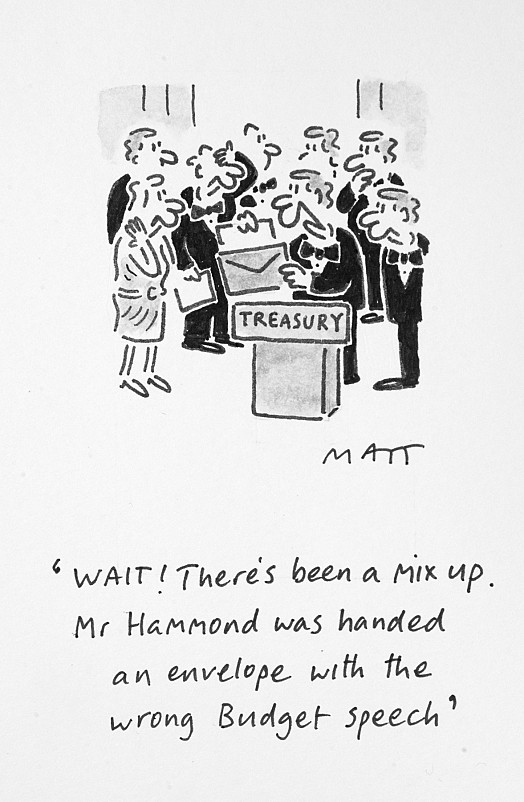 Wait! There's Been a Mix Up. Mr Hammond Was Handed an Envelope Withthe Wrong Budget Speech