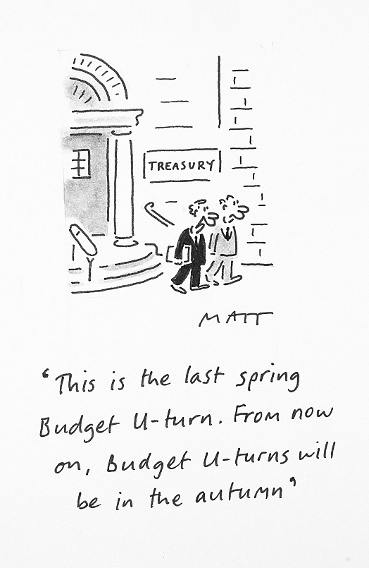 This Is the Last Spring Budget U-Turn. from Now On, Budget U-TurnsWill Be In the Autumn
