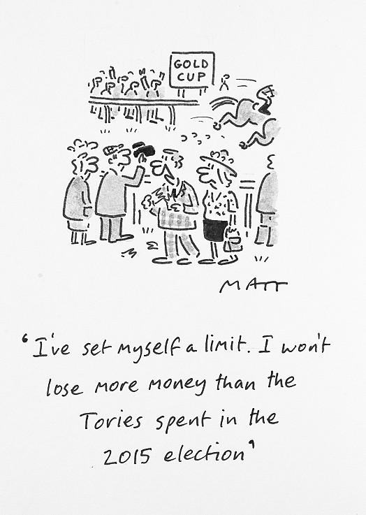 I've Set Myself a Limit. I Won't Lose More Money than the Tories Spent