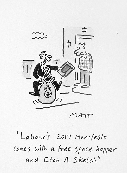 Labour's 2017 Manifesto Comes with a Free Space Hopper and Etch a Sketch