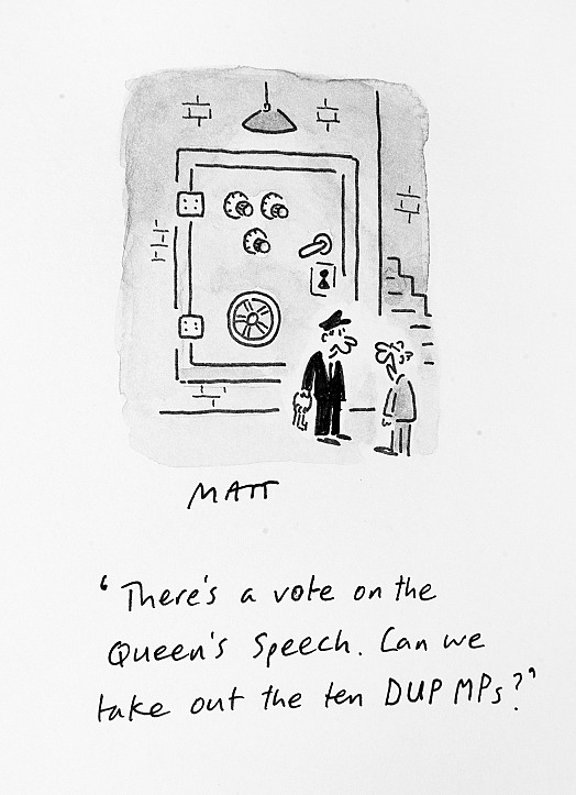 There's a Vote On the Queen's Speech. Can We Take Out the Ten Dup Mps?