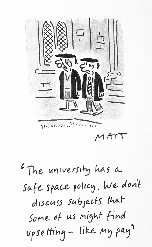 The University Has a Safe Space Policy. We Don't Discuss Subjects That Some of Us Might Find Upsetting - Like My Pay