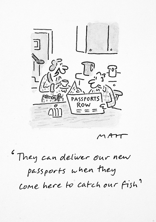 They Can Deliver Our New Passports When They Come Here to Catch Our Fish