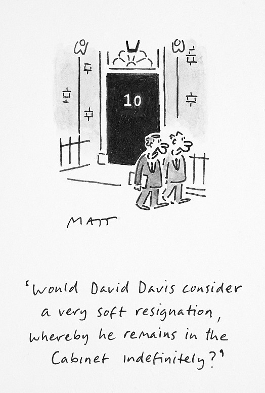 Would David Davis Consider a Very Soft Resignation, Whereby He Remains In