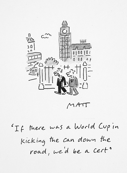 If There Was a World Cup In Kicking the Can Down the Road, We'd Be a Cert