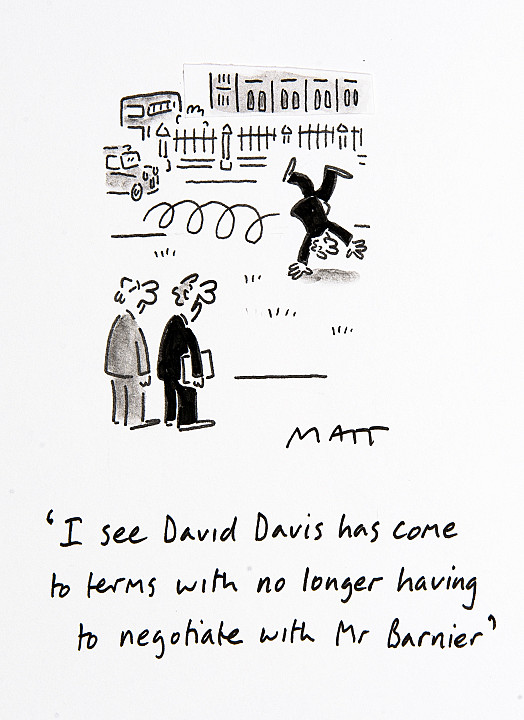 I See David Davis Has Come to Terms with No Longer Having ToNegotiate with Mr Barnier