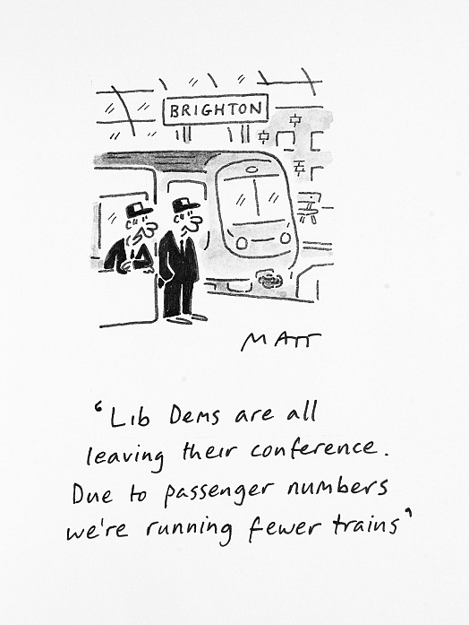 The Lib Dems Are All Leaving Their Conference. Due to Passenger NumbersWe're Running Fewer Trains
