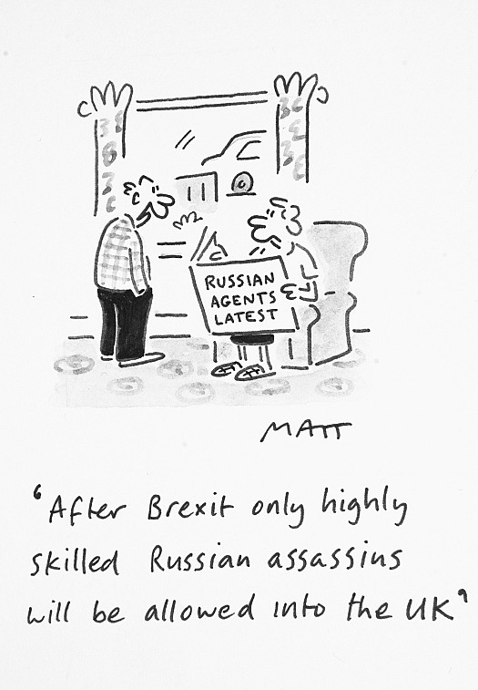 After Brexit only Highly Skilled Russian Assassins Will Be Allowed 