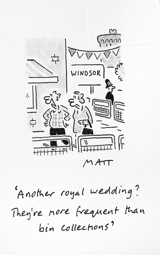 Another Royal Wedding? They're More Frequent than Bin Collections
