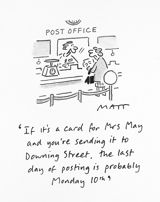 If It's a Card For Mrs May and You're Sending It to Downing Street, the Last Day of Posting Is Probably Monday 10th