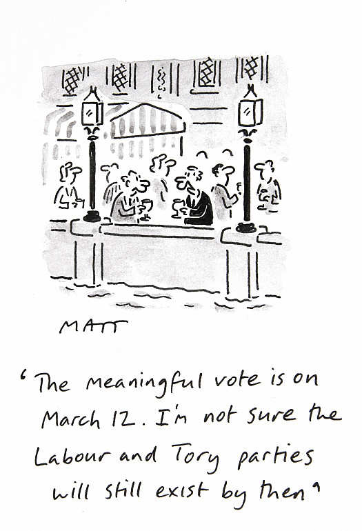 The Meaningful Vote Is On March 12. I'm Not Sure the Labour and Tory Parties Will Still Exist by Then